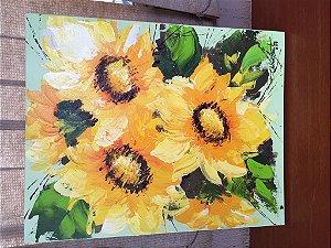 Quadro Flores Celina Arantes 70cm x 70cm