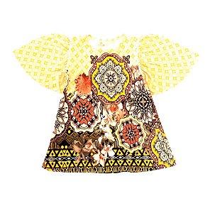 Vestido Ciranda Amarelo
