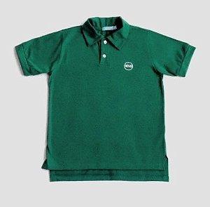 Camisa polo malha verde