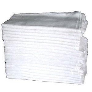 Pano de Prato com Bainha Branco Liso Engomatextil 100% Algodão 40x65cm - Pacote com 10 Peças