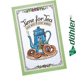 Pano de Copa Felpudo Döhler Prata Tea Sweets Cor Verde 45x65cm