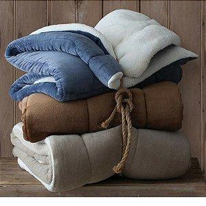 Cobertor Casal Flannel com Sherpa  - Sultan