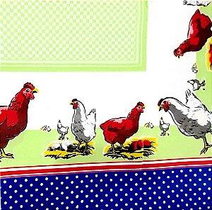 Toalha de Mesa Bella Quadrada 1,40mx1,40m Chicken - LUCAT
