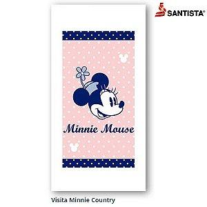 Toalha de Visita Social Santista Linha Disney Minnie Country 22x41cm