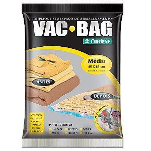 Saco a Vácuo Ordene Vac Bag Médio 45x65cm