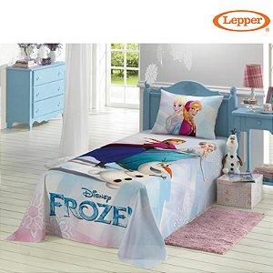Colcha Simples Solteiro Frozen - Lepper