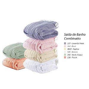 Kit Saída de Banho Combinatto Tamanho Unico Cor Branco 02 Peças - Dianneli