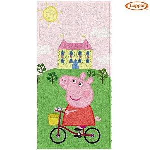Toalha Felpuda de Banho Peppa Pig 60X120cm - Lepper