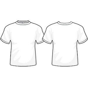 Camiseta Branca Promocional Fio 30/1 100% Algodão Tamanho XP