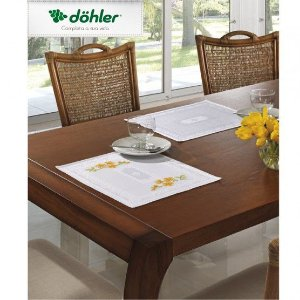 Fundo de Prato para Bordar Jacquard Dubai Liso 40x35cm - Döhler