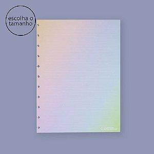 Refil Caderno Inteligente Rainbow Pautado