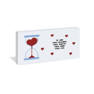 Quadro Bloco Cartão Te Amo