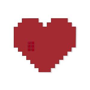 Mural Coração Pixel