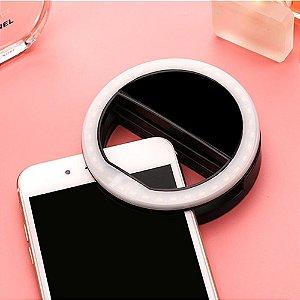 Luz de Led Selfie P/Celular Clipe Anel
