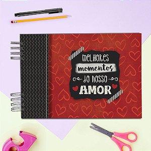 ÁLBUM DE RECORDAÇÕES SCRAPBOOK - MELHORES MOMENTOS AMOR