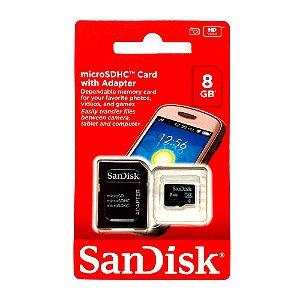 CARTÃO DE MEMÓRIA SANDISK 8GB CLASSE 4