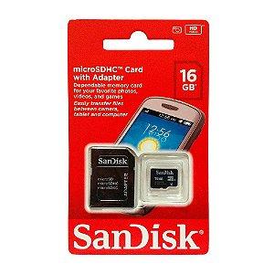 CARTÃO DE MEMÓRIA SANDISK 16GB CLASSE 4