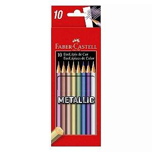 Lápis de Cor Metálico Faber Castell 10 Cores