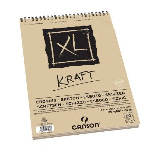 Bloco Papel Kraft Canson XL A5 90G 40 Folhas