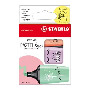 KIT BOSS MINI PASTELLOVE C/3 CORES - STABILO
