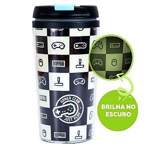 COPO TÉRMICO POP BRILHA NO ESCURO - GAME GEEK