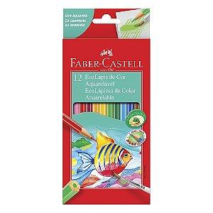 Lápis de Cor Aquarelável Faber Castell 12 cores