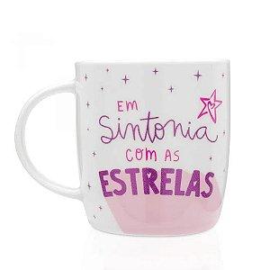 CANECA COM GLITTER LARISSA MANOELA