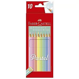 LÁPIS DE COR 10 CORES PASTEL FABER CASTELL