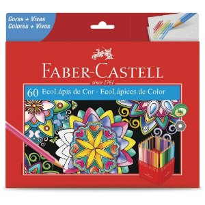 Lápis de Cor Faber Castell 60 cores