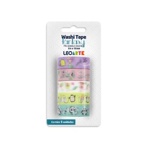 KIT WASHI TAPE FANTASY LEOARTE