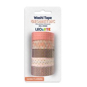 KIT WASHI TAPE GEOMETRIC LEOARTE
