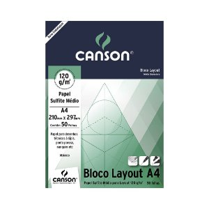 Papel Canson Layout Sulfite Medio 120g A4