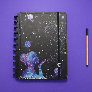 Caderno Inteligente Poeira das Estrelas By Gocase
