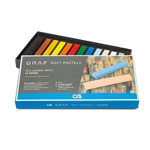 Giz Pastel Seco Graf Soft Pastels Cis 12 cores