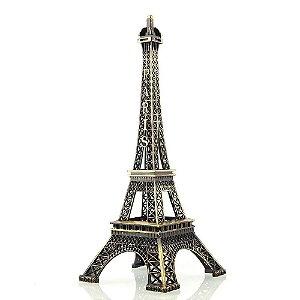 Torre Eiffel Paris Decorativa Metal 32cm