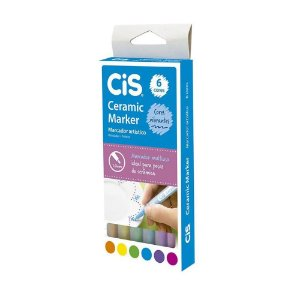 Caneta Para Cerâmica Cis Ceramic Marker 10mm Com 6 Cores
