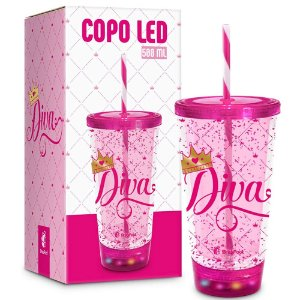 COPO LED DIVA 500ML BRASFOOT