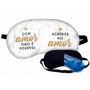 MASCARA DE DORMIR COM AMOR TUDO É POSSÍVEL BRASFOOT