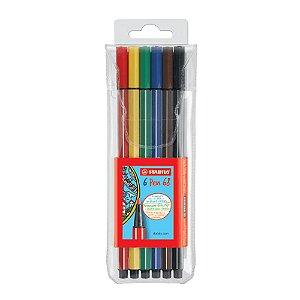 Caneta Pen 68 Stabilo Kit c/6