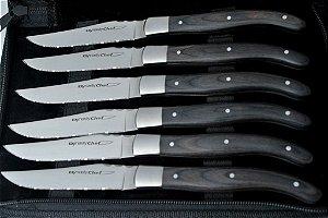 Conjunto de facas forjadas modelo Laguiole