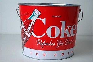Balde Coca-Cola com relevo