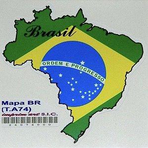 Adesivo 6 cm x 6 cm Mapa do Brasil - 207