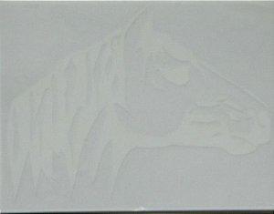 Adesivo Cabeça de cavalo 23,0 cm x 17,5 cm - 207