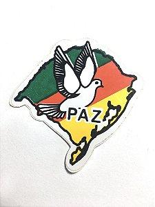 Adesivo 5,5 cm x 5,5 cm - Mapa RS - Paz - 207