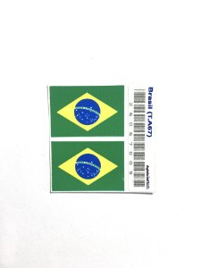 Adesivo 2,5 cm x 1,8 cm - Brasil -207