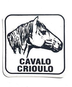 Adesivo 5,5 cm x 5,5 cm - Cavalo Crioulo - 207