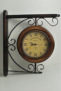 Relógio Estação Duplo 26cm