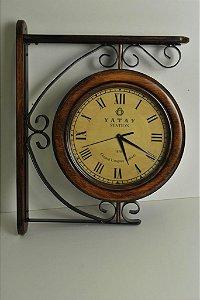 Relógio Estação Duplo 36cm