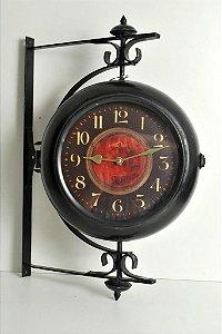 Relógio Estação Duplo Metal