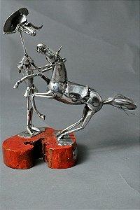 Escultura Dom Quixote rosinante